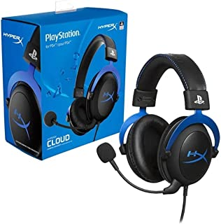 HyperX Cloud Gaming Headset For PS4 and PS5   53mm Drivers   Aluminium Frame   In-line Audio Control   Detachable Noise-Ca...