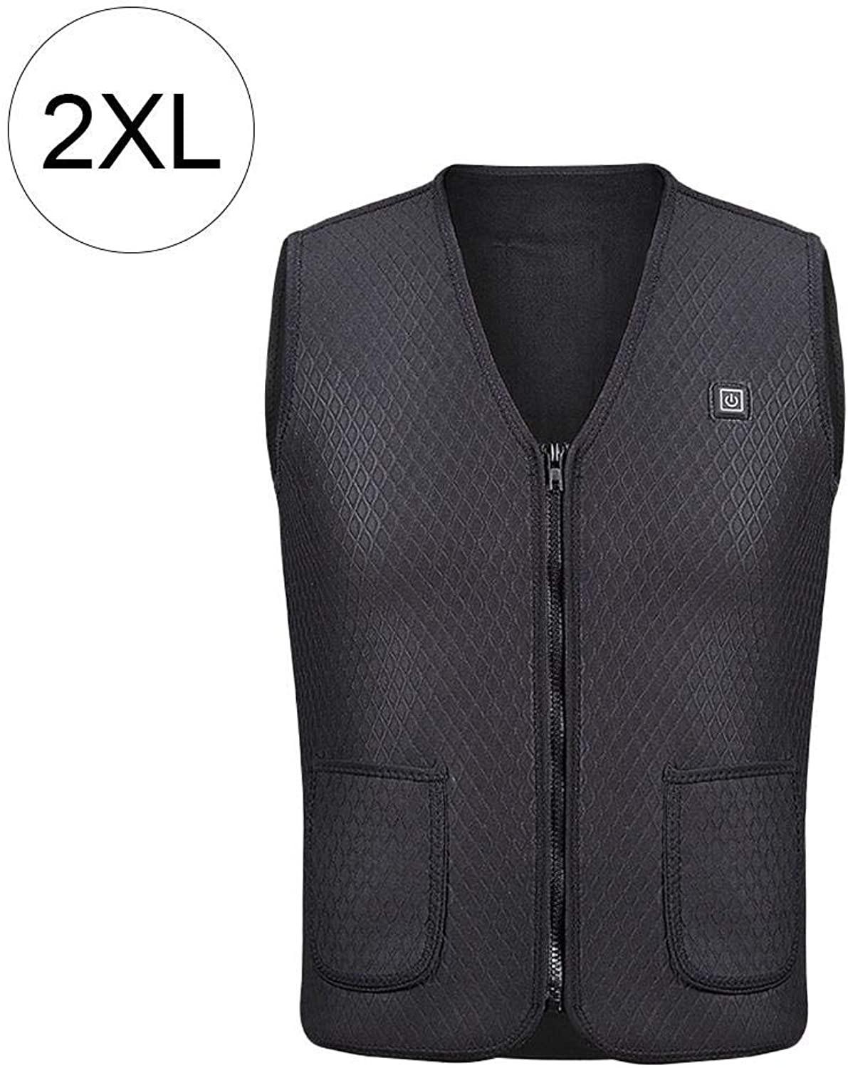 Jannyshop Insulated Heated Vest with USB Charging for Outdoor Riding Skiing Fishing Black