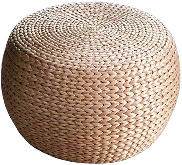 XSWZAQ Dz Straw Rattan Sitting On The Tatami Round Pier For Shoes Stool Bay Window Mats Futon Stool Home Sofa Bench Home