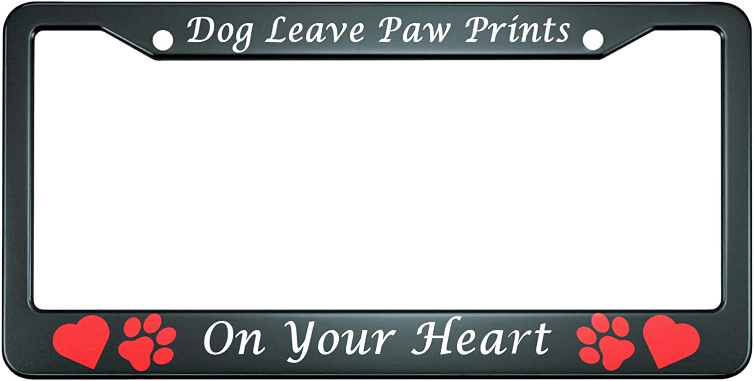 HOSNYE Dog Leave Overseas parallel import Spring new work one after another regular item Paw Prints on Me Plate License Your Heart Frame