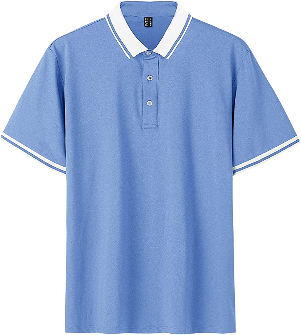 TACVASEN Men's Choice Polo Limited time sale Long and Short 3 Golf Sleeve Quick Dry