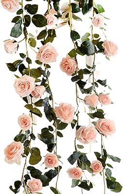 バラ 薔薇 ローズ ガーランド 造花 シルク フラワー 装飾 造花の藤 【櫻】 壁飾り花 インテリア スワッグ パーティー 人工花 人工観葉植物 イベント 装飾 ピンク