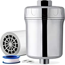 iSpring SF1S 15-Stage High Output Universal Shower Filter with Replaceable Cartridge Remove Chlorine, Sediment, and Heavy ...