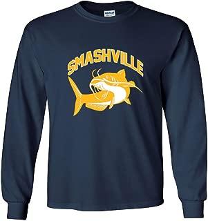 The Silo Long Sleeve Navy Nashville Smashville Catfish T-Shirt