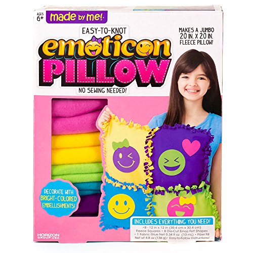 Made By Me Make Your Own Jumbo Emoticon Pillow by Horizon Group USA, Multicolored, Pillow 20' x 20, Assorted