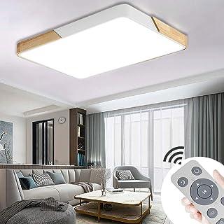 JINPIKER Lámpara de techo LED regulable de 72W vatios Lámpara de techo LED de carcasa blanca Lámpara de ahorro de energía Sala de estar Cocina Baño para pasillo Dormitorio Luces de techo