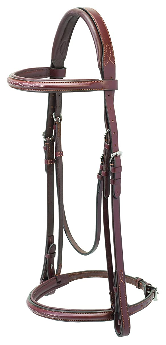Weaver Leather Padded English Bridle with Reins