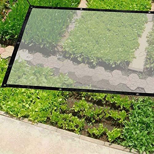 DPLLM Lona Impermeable, Resistente al Agua Multiusos Resistente a la Intemperie Lona de Invernadero para Plantas Invernadero Pet Hutch Roof (Color : Transparente, Size : 4x5m)