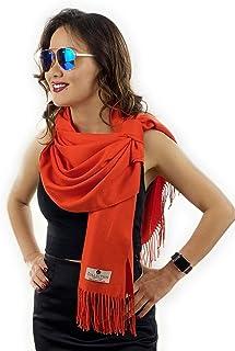 Women's Fashion Sheer Cashmere Scarf | Large Warm Soft Blanket Shawl Wrap w/Fringe Gift Box