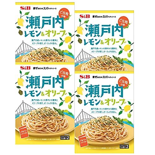 SB まぜるだけのスパゲッティソースご当地の味瀬戸内レモン&オリーブ 42.2g ×4袋