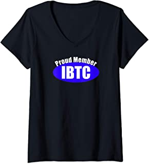 Womens Itty Bitty Titty Committee Gift Women Small Boob Breast IBTC V-Neck T-Shirt
