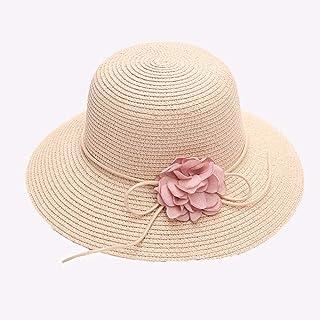 Sombreros para el sol Sombrero de paja flexible Sombrero de ala grande plegable Ajustable enrollable Protección UV exterior UPF 50+ Sombreros de playa de verano para mujeres,Pink