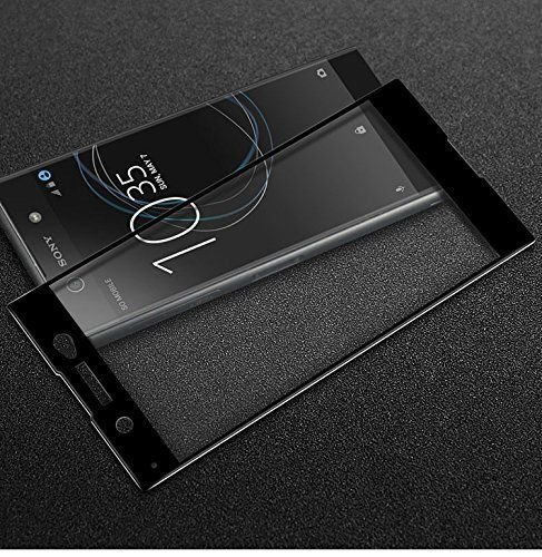 ELICA 3D Curve Premium Edge to Edge Tempered Glass for Sony Xperia XA1 Dual G3121 / G3112 / G3125 / G3116 / G3123 - Black