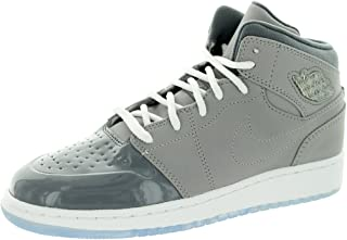 [628620-003] AIR Jordan Boys Youth AIR Jordan 1 Retro 95 Grade School Sneakers AIR JORDANMEDIUM Grey/White-Cool GREYM