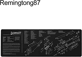 Shentesel 12x36inch Gun Cleaning Bench Mat with Parts Diagram for AR15 AK47 Remington 870