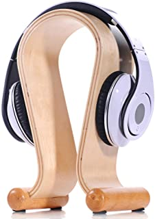 Headphone Stand Headset Hanger for Cable Holder for Sennheiser, Sony, Audio-Technica, Bose, Beats, AKG, Gaming Headset Display,Beige