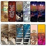 Creanoso Music Can Change Life Bookmarks for Musicians (12-Pack) – Premium...