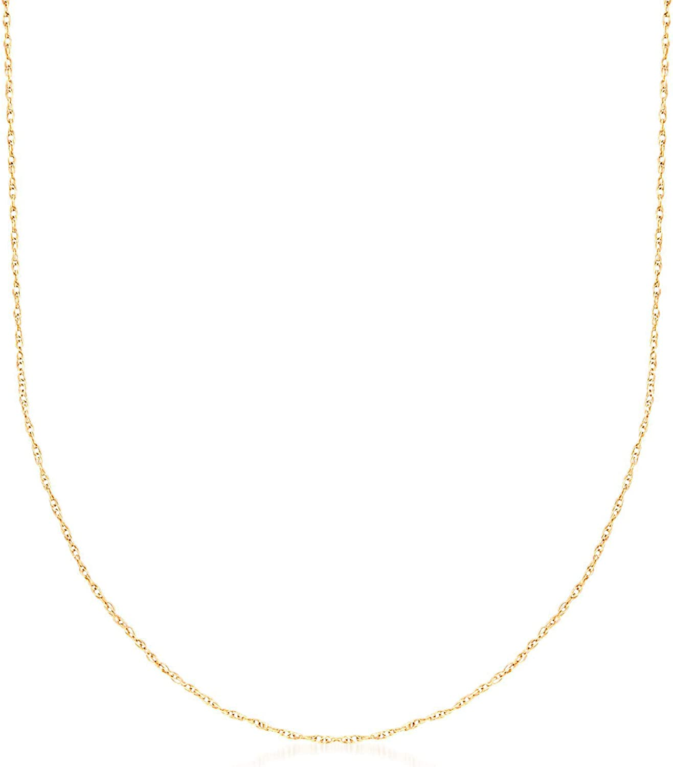 Ross-Simons .7mm 14kt Yellow Gold Rope Chain Necklace