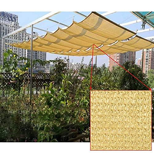 GAXQFEI Parasol Extensible Cubierta de Pérgola Toldo de Terraza Olas en Forma de 'U' Que Sobresalen Filtro Transpirable Luz Polea Móvil para Cubiertas Patio Piscina,Amarillo,1 * 3M