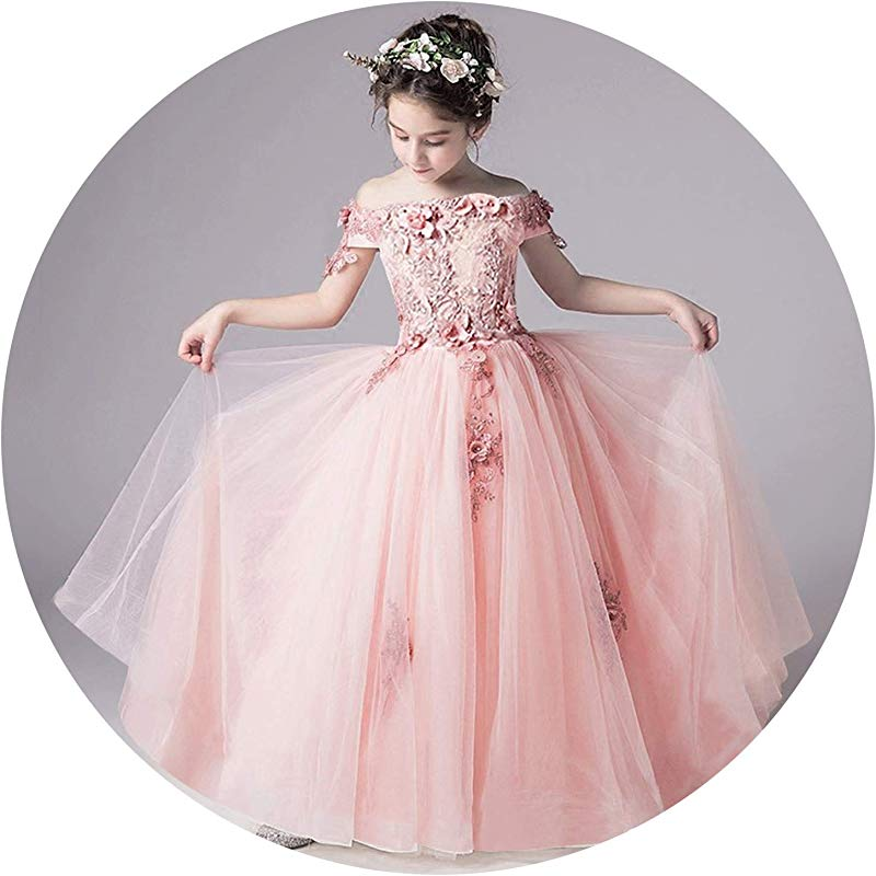Tulle Lace Infant Pageant For Weddings And Party First Communion Dresses For Girls As Picture1 6