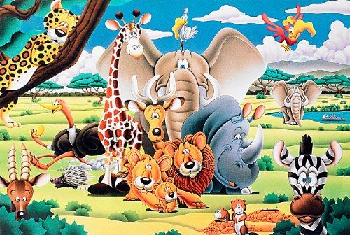 Infactory NC-7214 Puzzle Lumineux 500 pièces Motif Animaux phosphorescents Multicolore