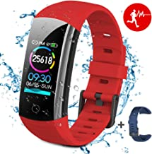 BTMAGIC Fitness Tracker HR,Activity Tracker Watch with Heart Rate Monitor,IP68 Waterproof Smart Fitness Band with Step Counter,Calorie Counter,Pedometer Smart Watch for Kids Women and Men