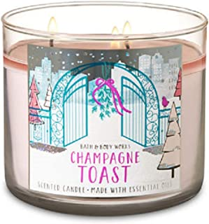 Bath and Body Works CHAMPAGNE TOAST 3 Wick Candle 2018 Holiday Collection