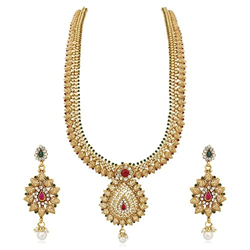 4f0f979c6f1 Long Golden Necklace  Buy Long Golden Necklace Online at Best Prices ...