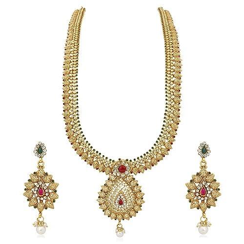 ec03e3bf251f3 1 Gram Gold Necklace Sets: Buy 1 Gram Gold Necklace Sets Online at ...