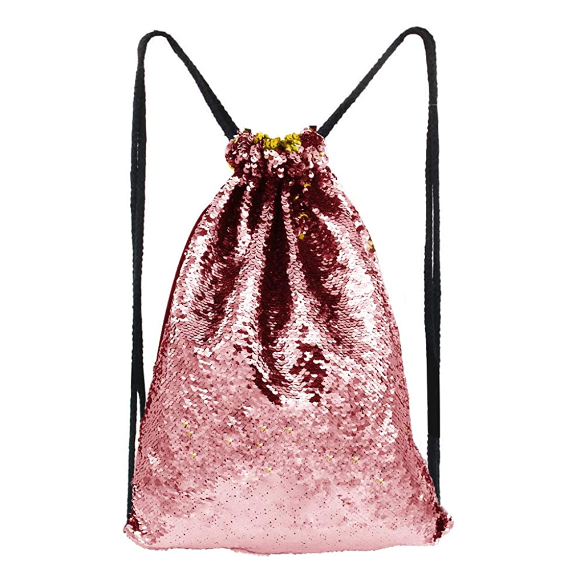 Alritz Mermaid Sequin Drawstring Bags, Reversible Sequin Gym Dance Backpacks Magic Glittering School Shoulder Bags Gift for Girls Kids Daughter Boy Women