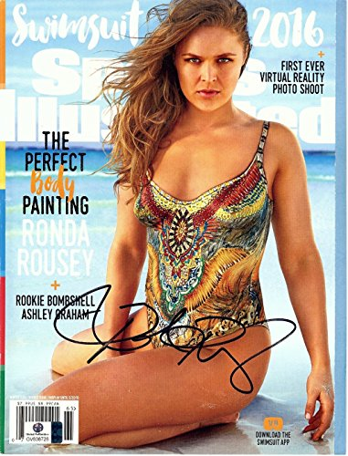 Ronda Rousey Signed Autographed SI Magazine Body Paint Sexy Swimsuit Ed GV838728