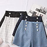 Immagine 1 vita tweed shorts donne casual