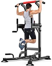 Yoleo Adjustable Power Tower - Multi Function Pull up Station for Strength Training - Dip Stand Workout Fitness Bar - Push...