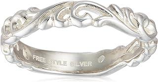 [FREE STYLE] FREE STYLE 阿拉伯风格的银戒指 白色