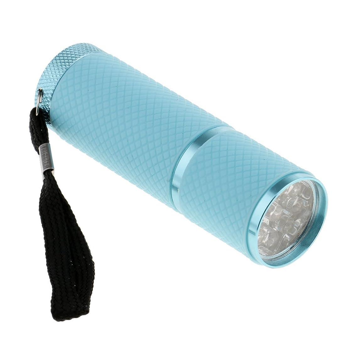 早い精神医学可能性Homyl ネイルドライヤー ミニ 9 LED  4.5V  ドライヤー 手と足 両方に使用 UV プロ ネイルサロン 家庭用 4色選べ - 青