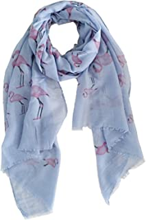 【Colorful Spring Inspired】Women's Lightweight Fashion Scarf, Floral and Modern Print Sheer Shawl Wrap