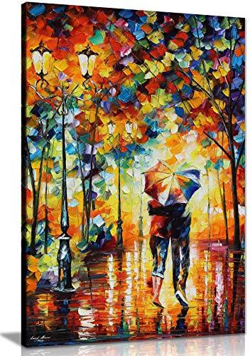 NOBRAND Cuadro de Lienzo Pareja bajo un Paraguas por Leonid Afremov Cuadro de Lienzo Arte de la Pared Impresión para decoración del hogar 30x50cm (11.8x19.7 Pulgadas) Sin marco4