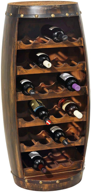 Purotay miaVILLA Flaschenregal Weinfass - Weinregal für 23 Flaschen - Holz - ca. Hhe 99 cm x  49 cm