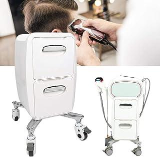 Carrinho de salão de beleza, 2 camadas de gaveta especial Ca com 4 rodas omnidirecionais, para barbearia, spa, salão de be...