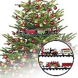 MonstruoManía Tren Circular para Árbol de Navidad, Decoración Navideña del Hogar