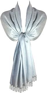 TOSKATOK Damen Damen Stilvolle Glitter Sparkle Abend Schal Pashmina Wrap Stola mit Quaste Finishing