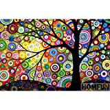 Ldrenboso Diamond Painting Kits for Adults HOMFUN Full Square/Round Drill 5D DIY Diamond Painting Abstract Tree Embroidery Cross Stitch 5D Home Decor Gift A08175 RoundDrill30x40cm