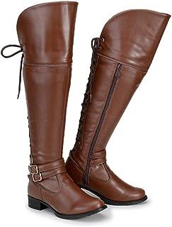 Bota Feminina Over The Knee Cano Alto