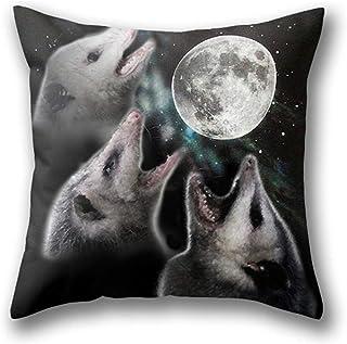 Lfff Funda de Almohada 3 Opossum Moon Funda de Almohada estándar