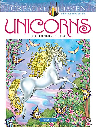 Creative Haven Unicorns Coloring Book (Creative Haven Coloring Books)