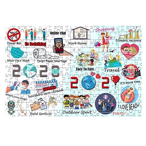 Puzzles 1000 Piezas Rompecabezas 2020 a 2021 Rompecabezas Rompecabezas de Madera con Amigos Familia DIY para niños Juego en casa Juguetes educativos Feliz año Nuevo (D)