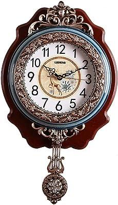 掛け時計 時計壁時計ホームファッションクリエイティブ時計超静かなクォーツ時計レトロ人格高級ヨーロッパぶら下げ時計 Rollsnownow