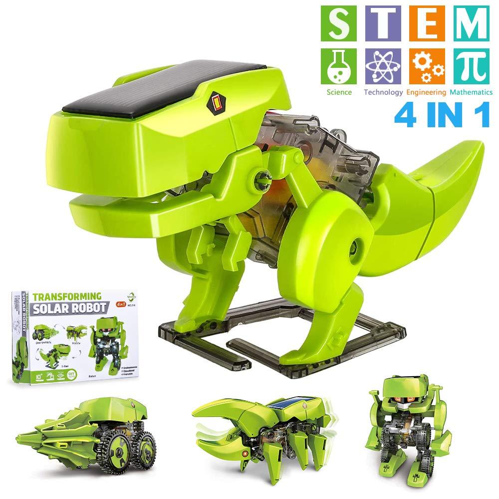 OFUN Dinosaurios Juguete Robot Stem para niños, 4 en 1 Robots Kit de Ciencia Divertido Juego Creativo y DIY Juguetes, Manualidades Regalos para niños de 8 a 12 años: Amazon.es: Juguetes y juegos