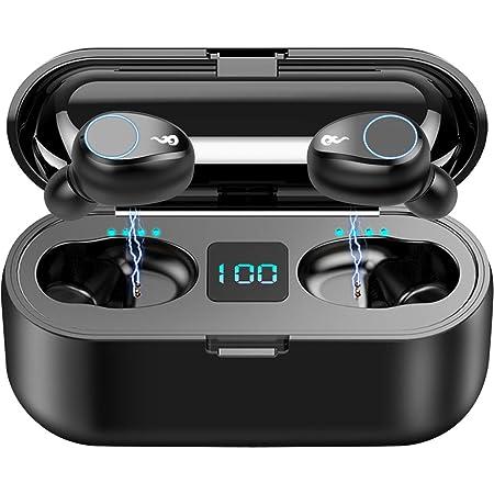 Bluetooth Earbuds, SUNhai F9 TWS Wireless Bluetooth 5.0 Headphones, IPX7 Waterproof Touch Headphones in-Ear Sports Earphone, Build in 2000mAh Power Bank Headset & Microphone