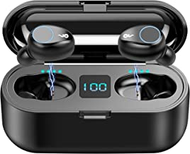 Bluetooth Earbuds,SUNhai F9 TWS Wireless Bluetooth 5.0 Headphones, IPX7 Waterproof Touch Headphones in-Ear Sports Earphone, Build in 2000mAh Power Bank Headset & Microphone and so on